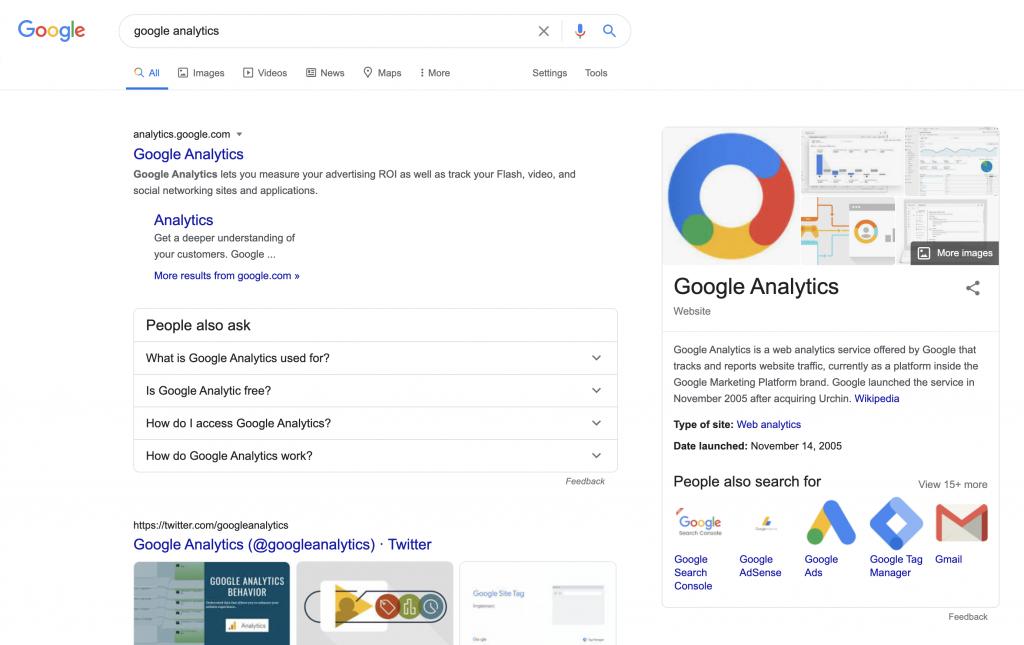 Google Analytics Search