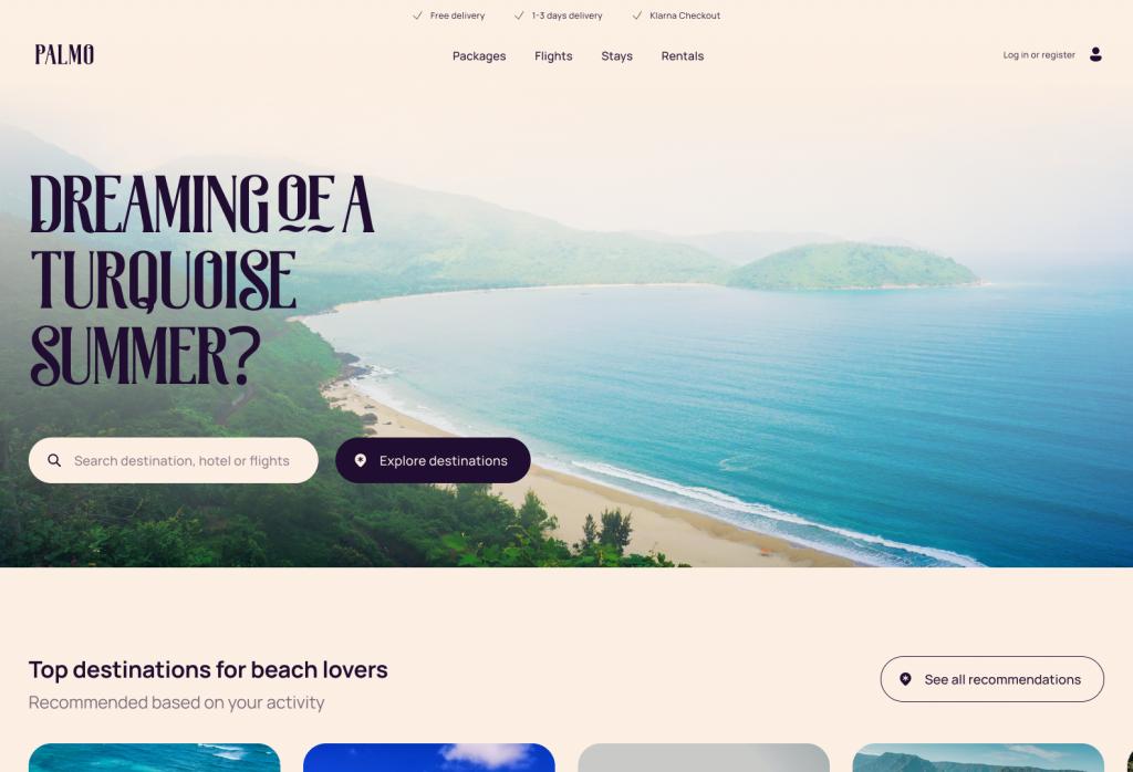 Palmo Qala Travel Agency Ecommerce Concept