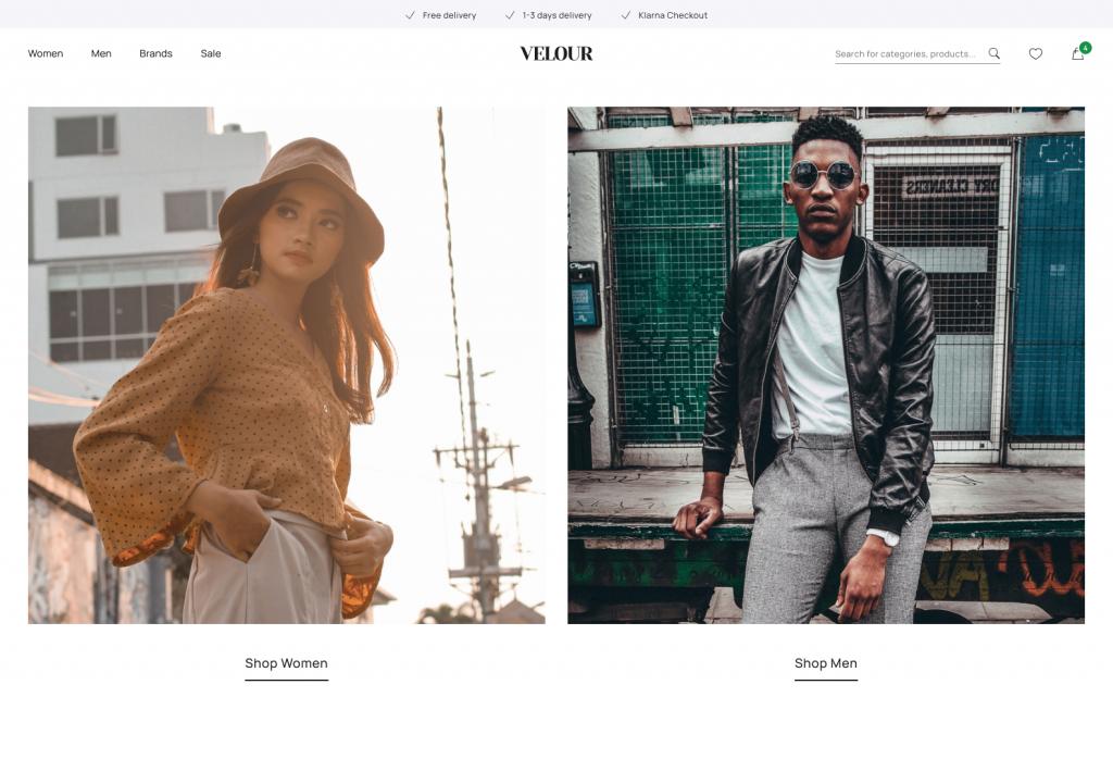 Velour Qala Fashion Ecommerce Concept